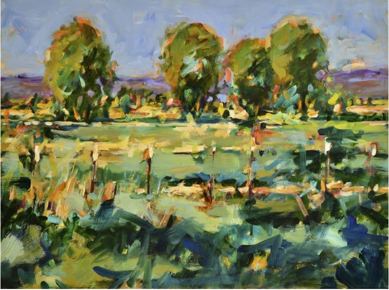 "Pat Mahony - Fences #2 - 2020 - Oil on Canvas - 30"" x 40"""