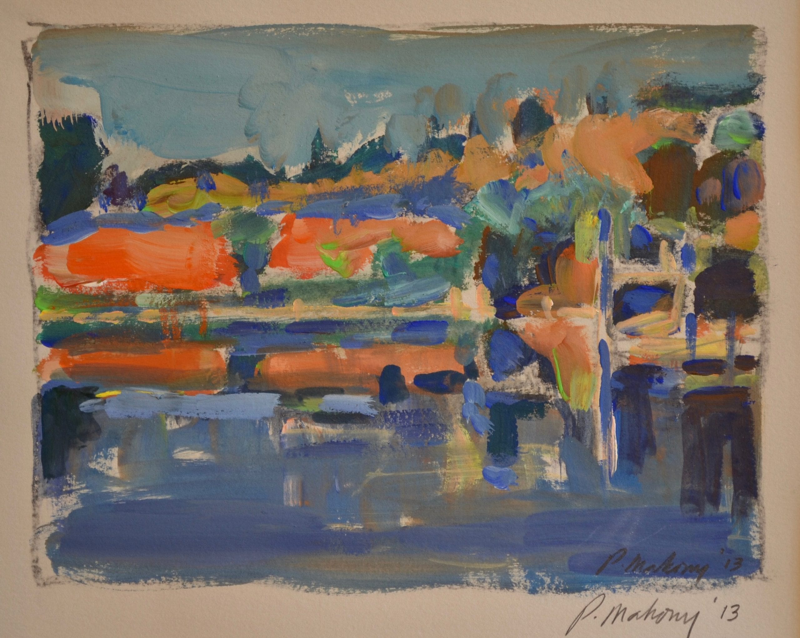 "Pat Mahony - William Pond (Study) - 2020 - Gouache on Paper - 7"" x 9"""