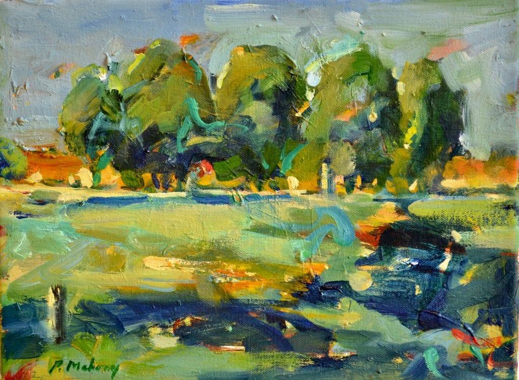"""Pat Mahony - Yolo Grove (Study) - 2020 - Oil on Linen - 9"""" x 12"""""""