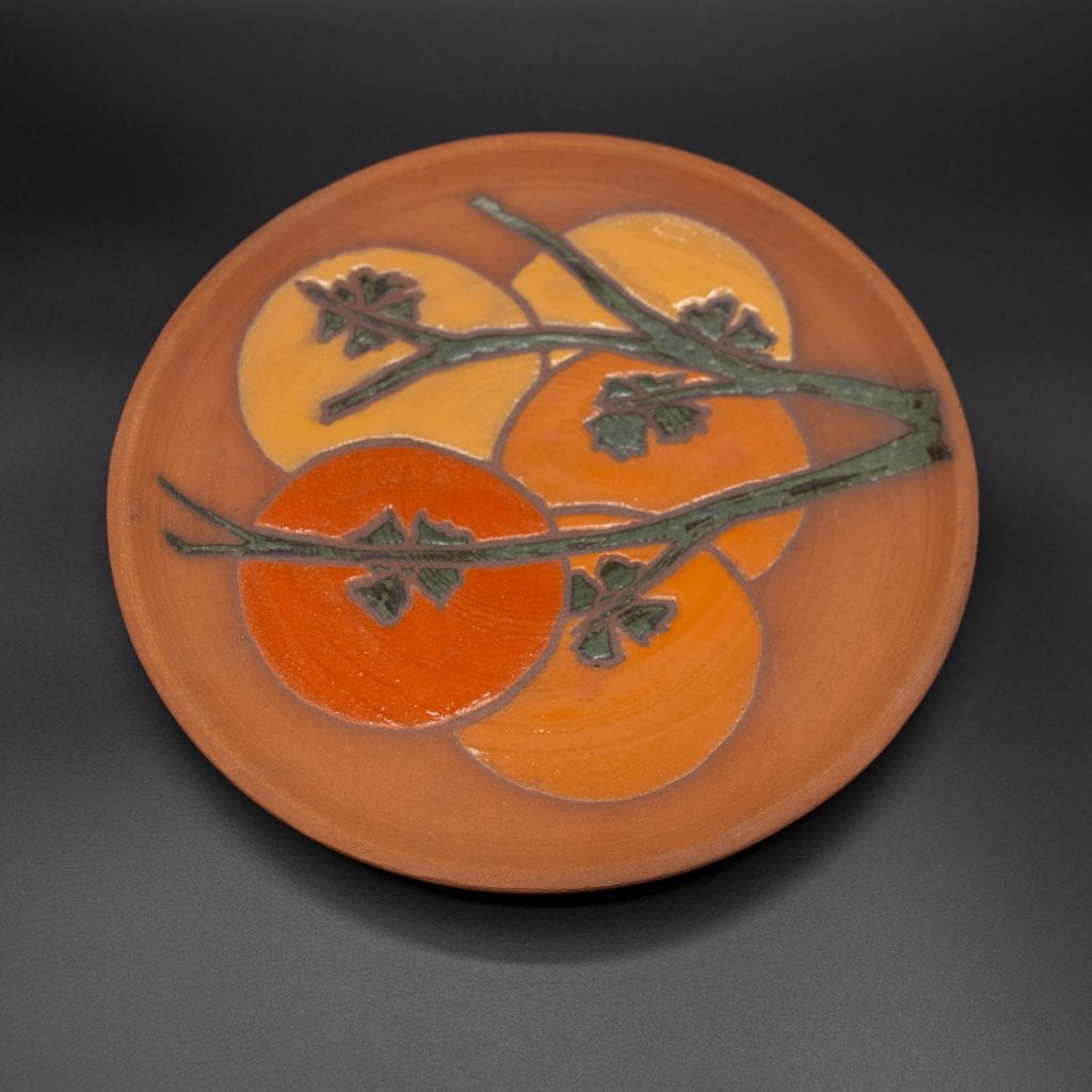 Barbara Sebastian - 2020 - Persimmon Plate - Ceramic