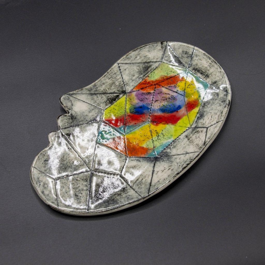 """Tiffany Schmierer - 2020 - Face Plates - Porcelain - 7"""" x 4"""""""