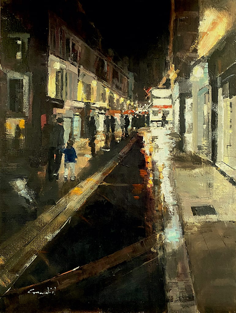 """Philippe Gandiol - Evening Take Out - 2020 - Oil on Linen - 24"""" x 18"""""""