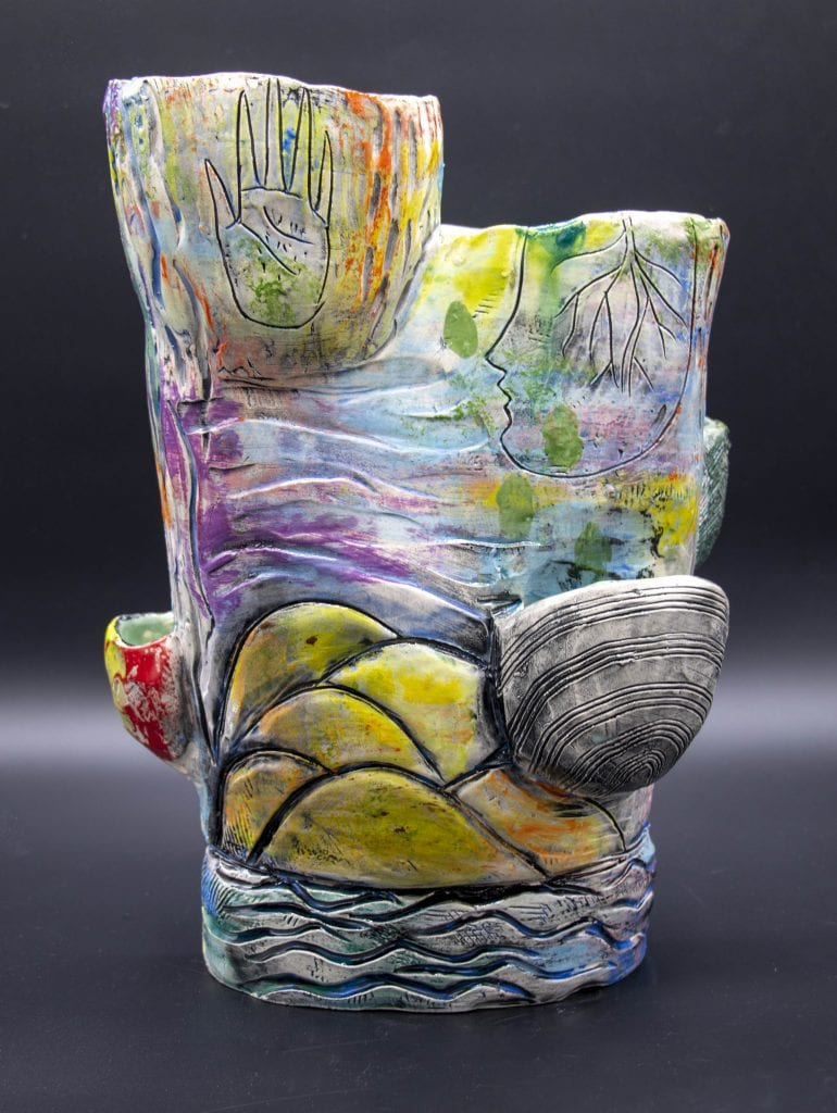 "Tiffany Schmierer - 2020 - Succulent Planter - Earthenware - 13.5"" x 10"" x 7"""