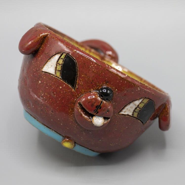 "Heidi Bekebrede - 2020 - Dog Mug - Ceramic - 2.5"" x 4"" x 5.5"""