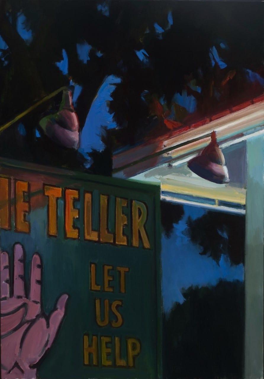 "Boyd Gavin - Fortune Teller's at Night - 2019 - Oil on Canvas - 60"" x 42"""