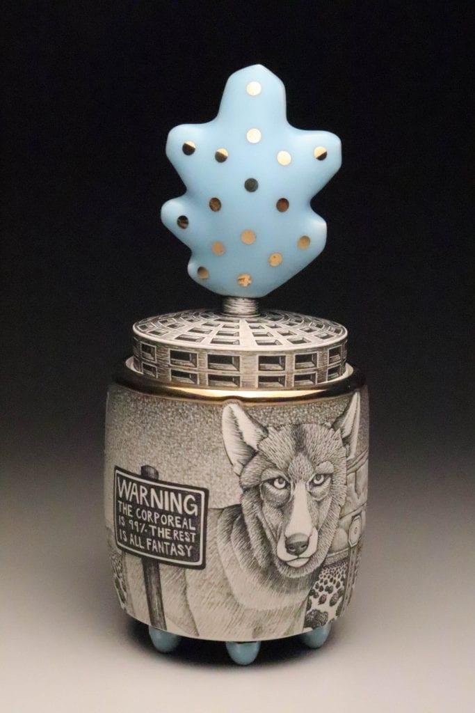 Jason Walker - 2020 - Wolf Jar - Ceramic