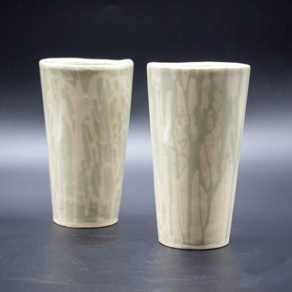 "Jennifer Brazelton - 2 Small Cups - 4.5"" x 2.5"" x 2.5"""