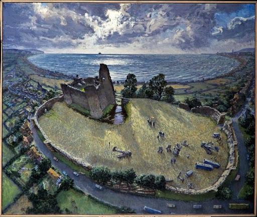 Julian Bell landscape painting oil on canvas
